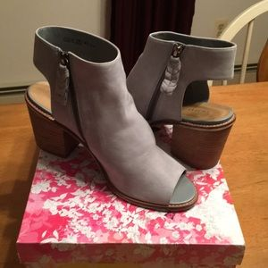 Booties - blue gray color